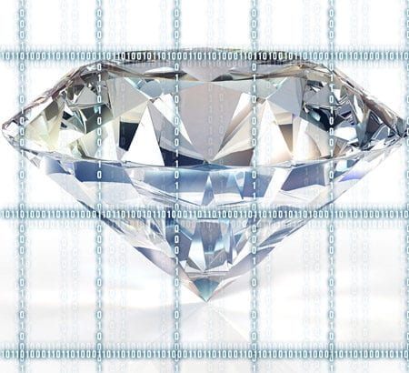 Diamant mit Blockchain