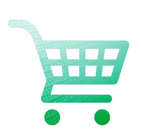 Eine Grafik von einem Einkaufswagen