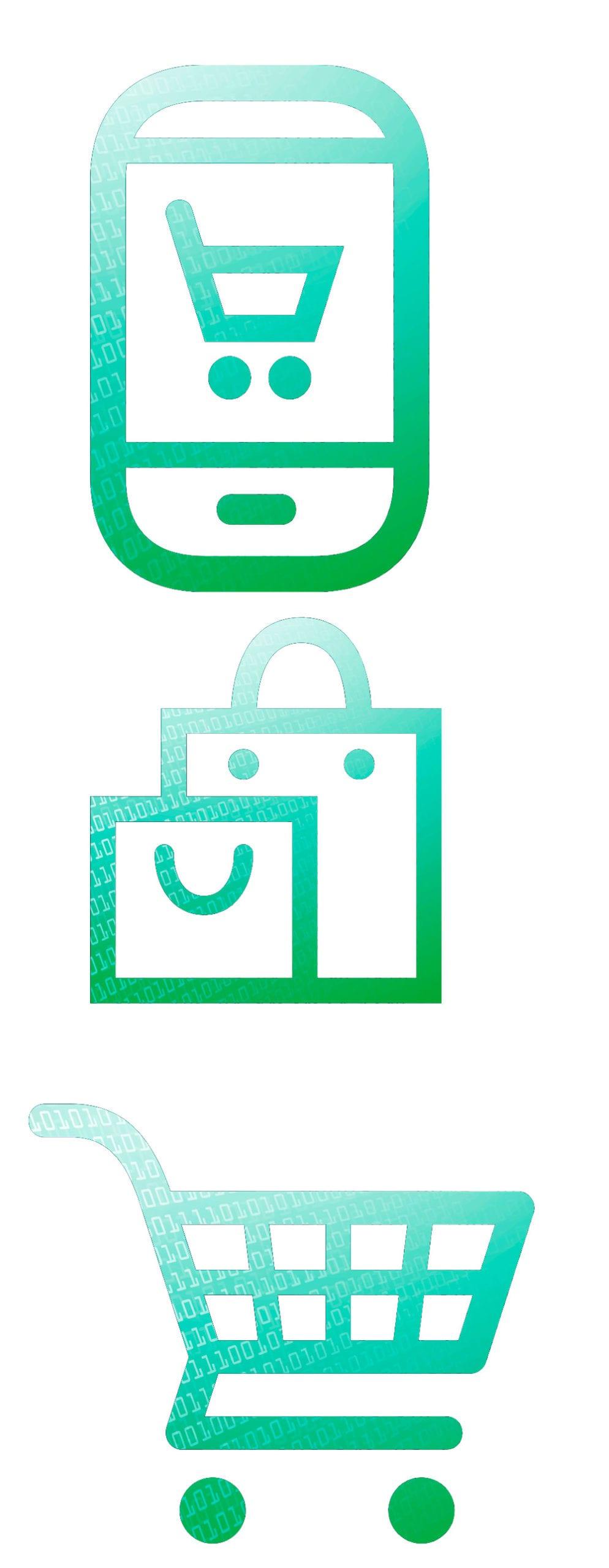 Online shopping Symbole