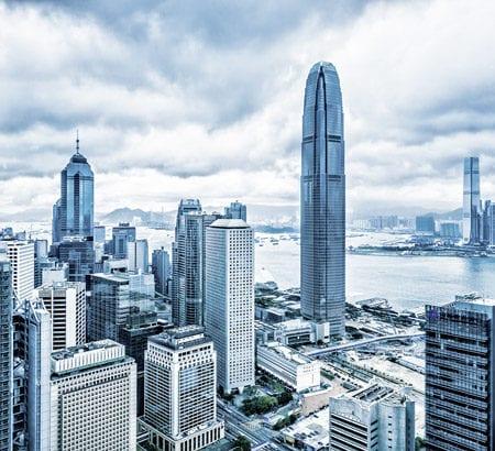 Das Stadtbild von Hong Kong