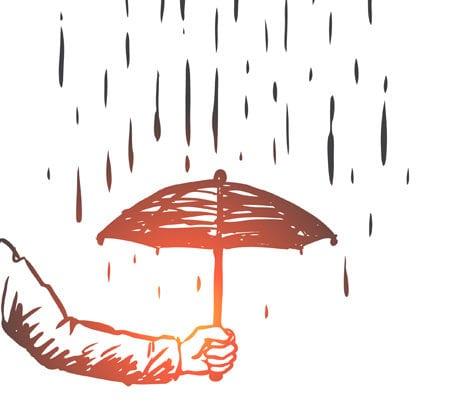 Illustration Schutz Regen Regenschirm