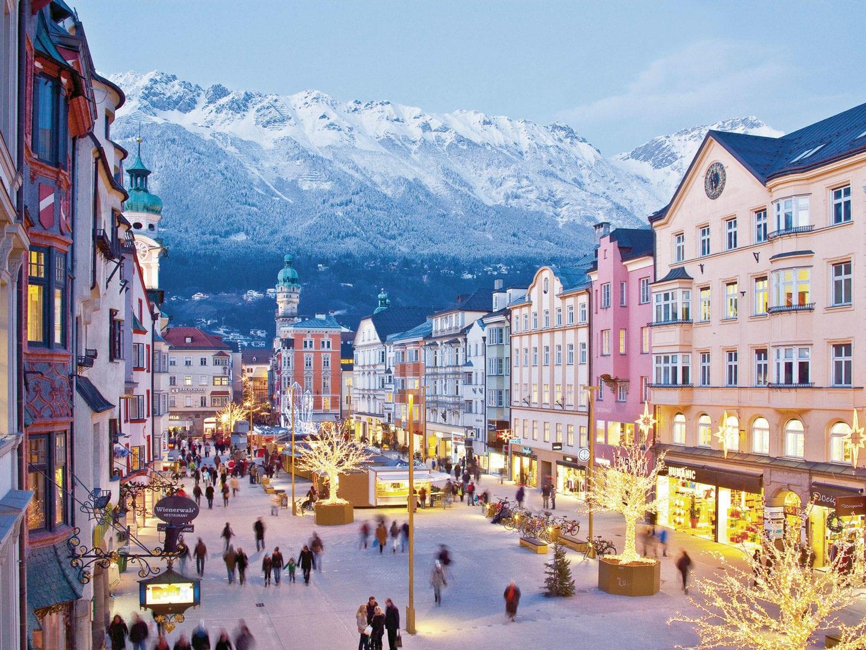 Eine Aufnahme der Innsbrucker Innenstadt