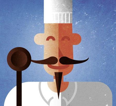 Eine Illustration von einem Koch