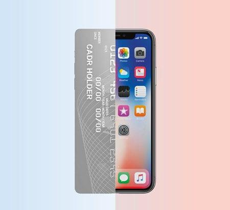 Illustration Smartphone und Kreditkarte