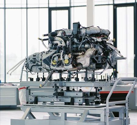 Ein Triebwerk von Bugatti