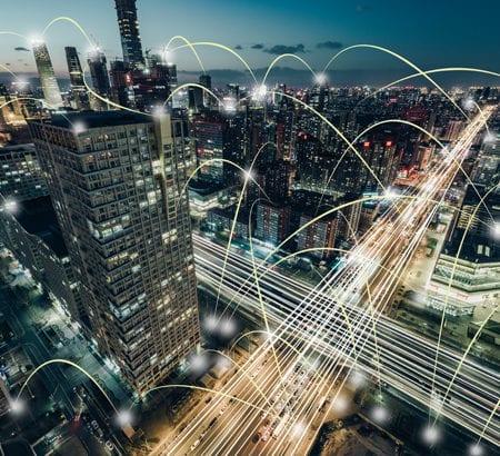Eine digital vernetzte Stadt