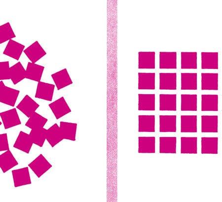 Quadrate werden geordnet