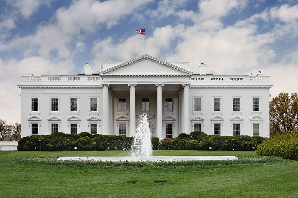 Bild vom weißen Haus in Washington