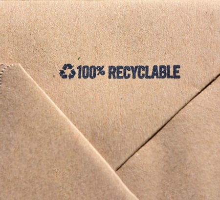 Verpackung mit 100 Prozent Recycling
