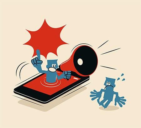 Illustration eines Smartphones mit Lautsprecher