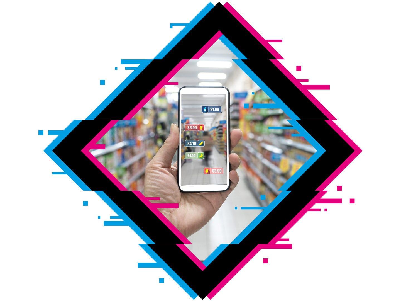 App-Nutzung im Supermarkt