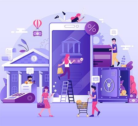 Illustration Banking neu gedacht