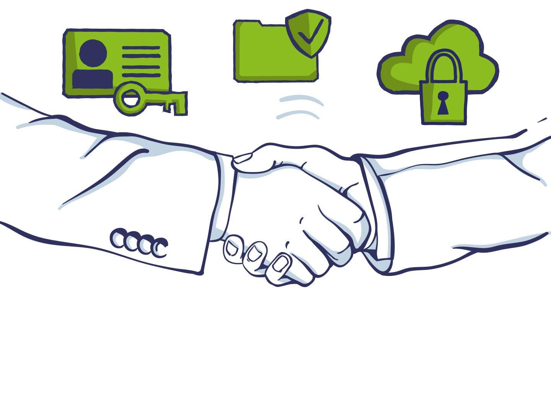 Illustration Zusammenarbeit digitale Ethik