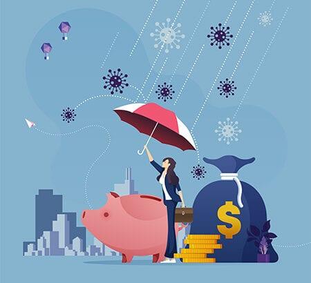 Schirm schützt vor Pleite
