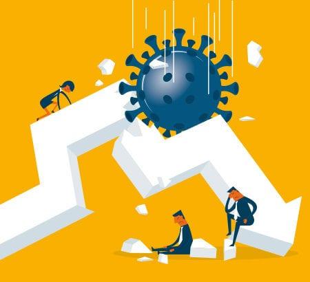 Illustration Rezession Coronakrise