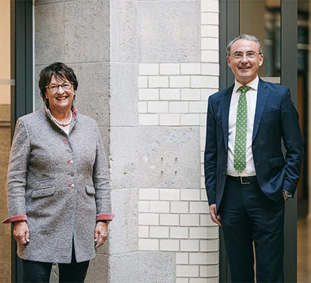 Brigitte Zypries mit Christoph Straub in Berlin