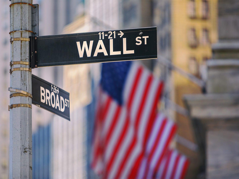Wall Street Verkehrsschild