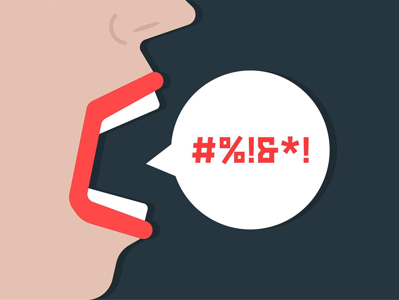 Grafik: Mund und Sprechblase