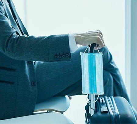 Businessman am Flughafen