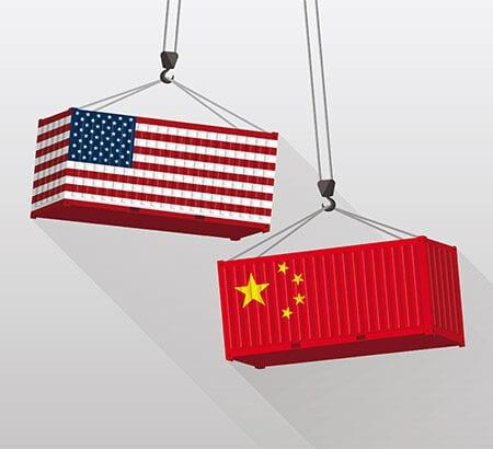 China USA Wettstreit Handel
