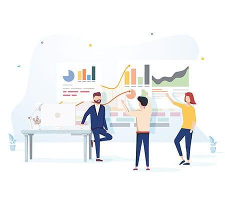 Zusammen erarbeitet ein Team neue Konzepte