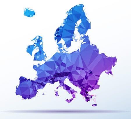 Eine Karte von Europa