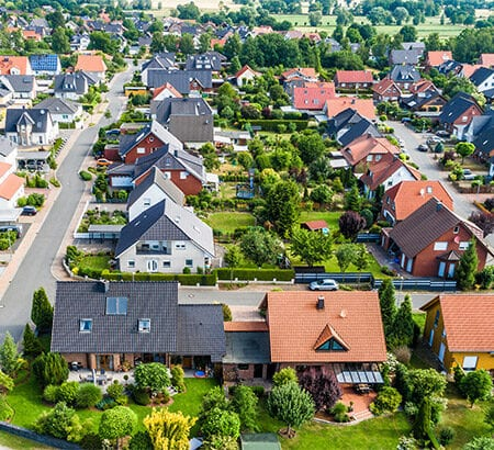 Eine kleine europäische Vorstadt
