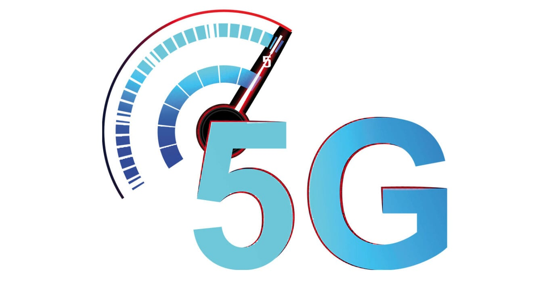 Illustration von 5G in Buchstaben
