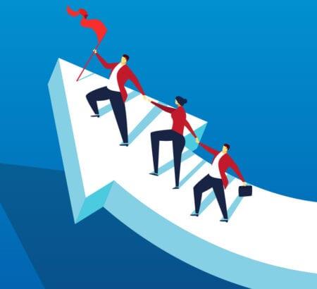 Eine Führungskraft, die ihre Mitarbeiter motiviert