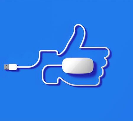 PC Maus Kabel als Hand