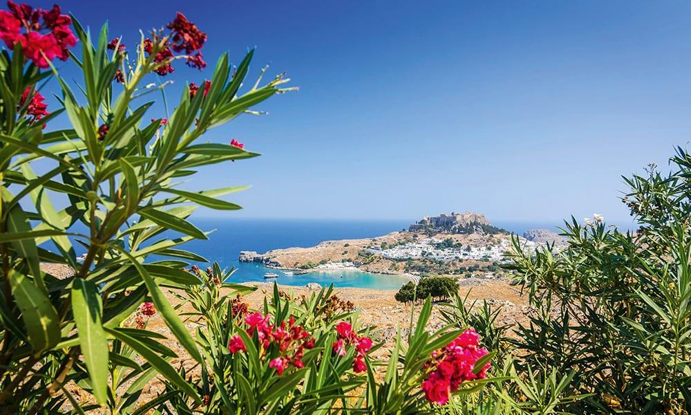 Ausblick Insel Rhodos