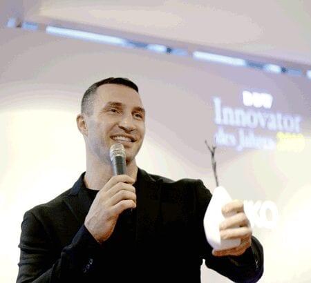 Wladimir Klischko bei der Verleihung des Preises