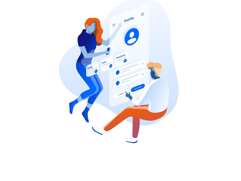 Illustration Telefon Kommunikation