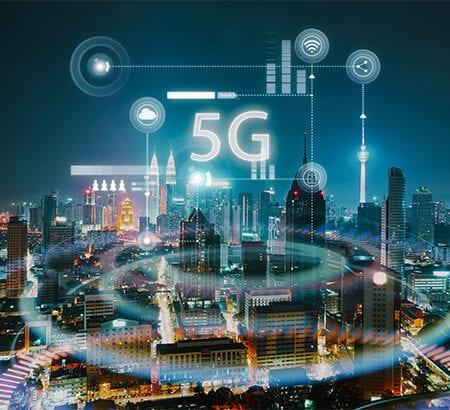 5G Mobilfunk vernetze smarte Stadt