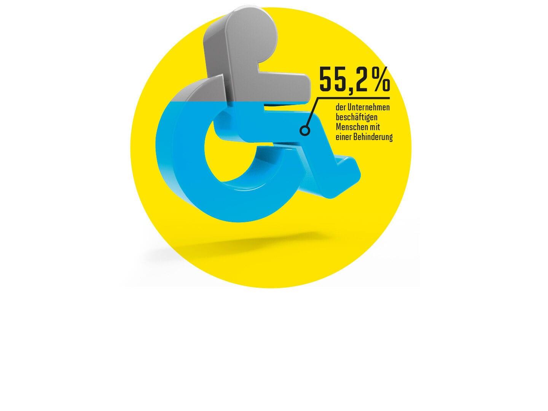 Illustration eines Symbols der behindertengerechten Toilette