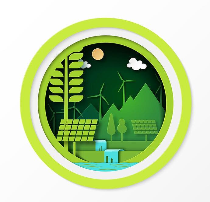 Papercut zeigt Energiequellen