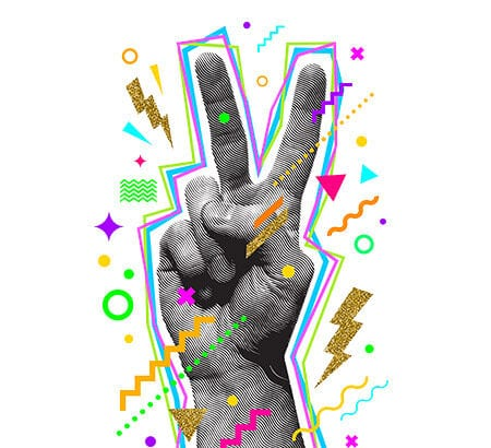 Victory Symbol Hand