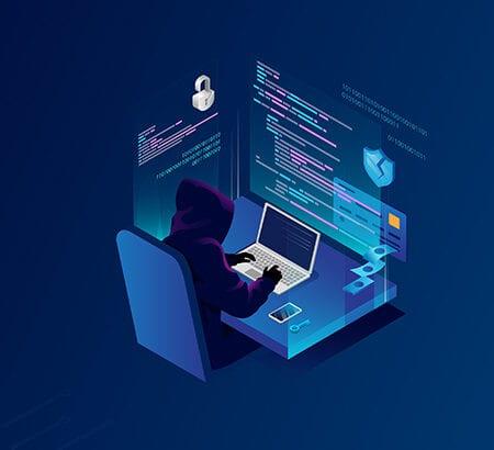 Hacker bei der Arbeit