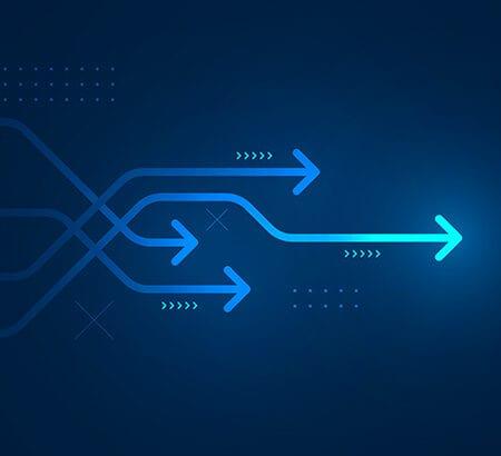 Grafik die einen Wettbewerb in Sachen Digitalisierung symbolisiert