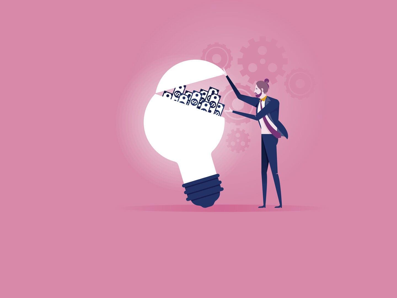 Eine Illustration von einem jungen Unternehmer
