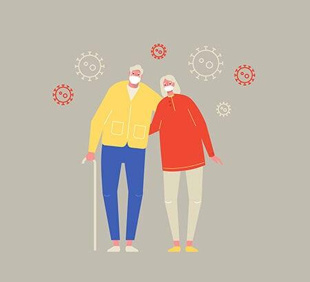 Illustration Rentner betriebliche Altersvorsorge