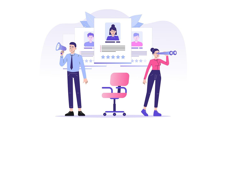 Online Personal Angebot und Gesuch