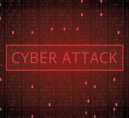 Schriftzug: Cyber Attack