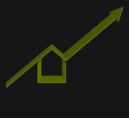 Illustration einer Immobilie die an Wert gewinnt