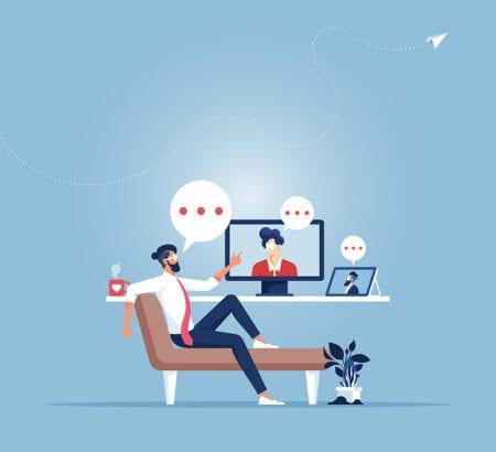 Ein Livevideo-Chat mit Kunden