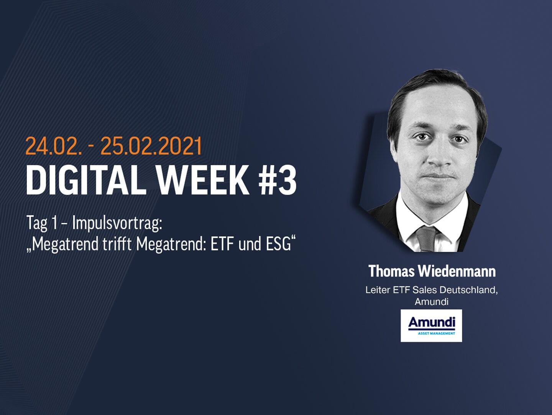 Thomas Wiedenmann von Amundi im Interview bei der Digital Week