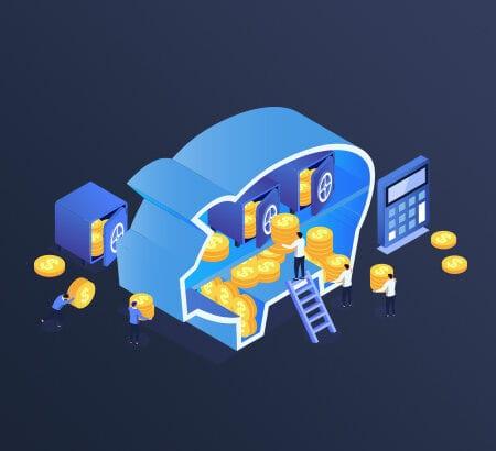 Ein Sparschwein wird mit Münzen gefüllt