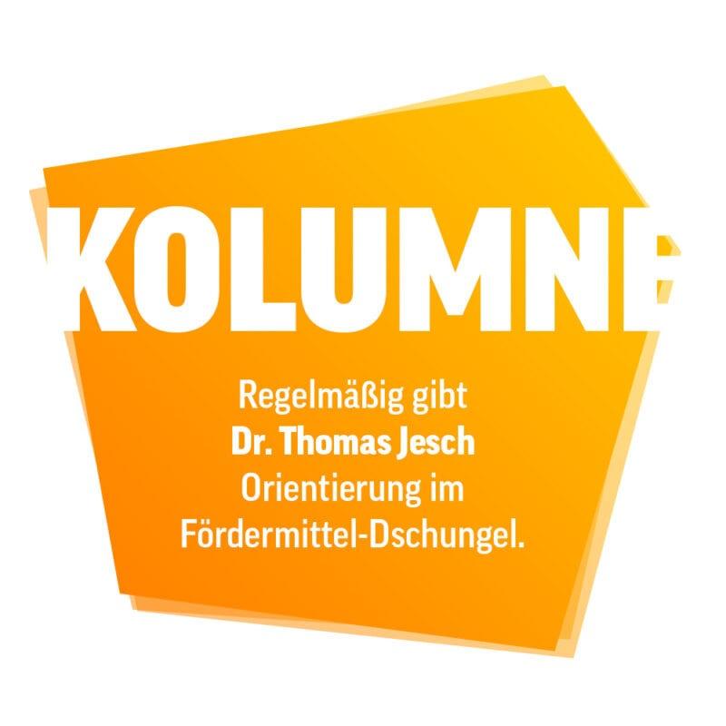 Kolumne von Dr. Thomas Jesch