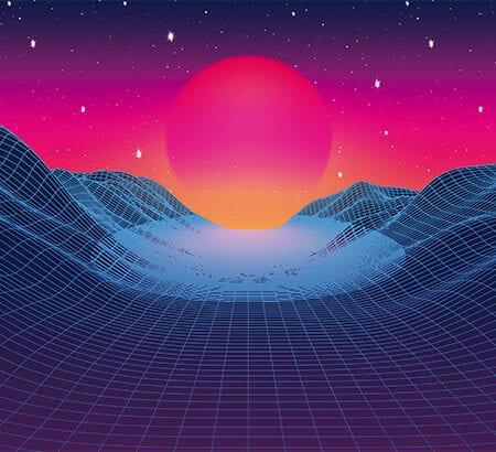 Ein digitaler Sonnenuntergang