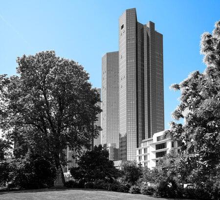 Zentrale der Deutschen Bank in Frankfurt am Main.
